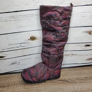 Hunter Boot Socks Long Medium Luxury Down Burgundy